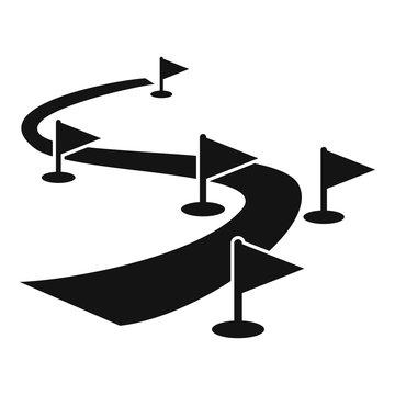 Biathlon track icon. Simple illustration of biathlon track vector icon for web design isolated on white background