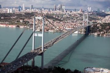 Fotomurales - Aerial view of Bosphorus Bridge