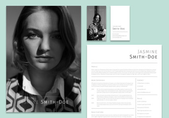 Black and White Personal Branding Set Layouts