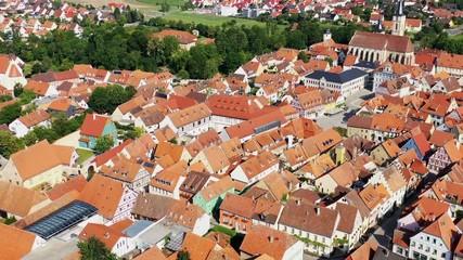 Wall Mural - Luftbild von Iphofen
