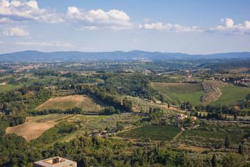 Printed kitchen splashbacks Khaki tuscany landscape