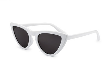 White retro cat eye sunglasses