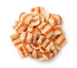 Top view of bacon flavored chips