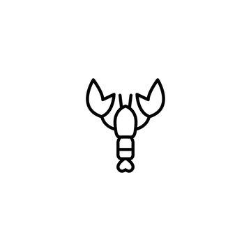 lobster animal icon vector illustration