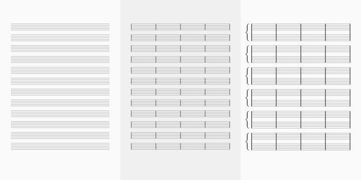 Music note book blank sheet .