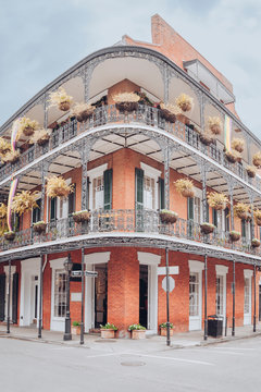 Typical historic House in the french Quarter of New Orleans