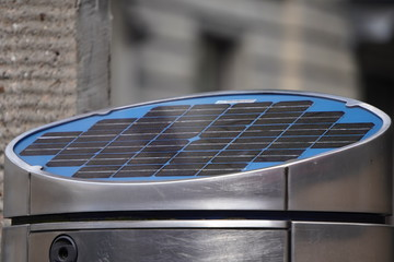 solar panels, modern environmentally friendly technologies in providing the city with electricity. solar energy for the good of life