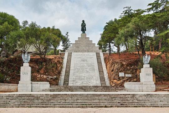 monument napoleon bonaparte ajaccio corsica france