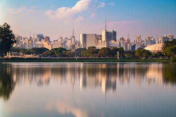 Fototapeten Lachs Parque Ibirapuera em São Paulo, Brasil