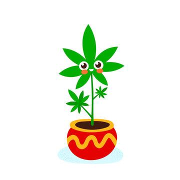 Cute funny smiling happy marijuana