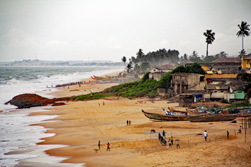 Tuinposter Kust Beach at Cape Coast in Ghana