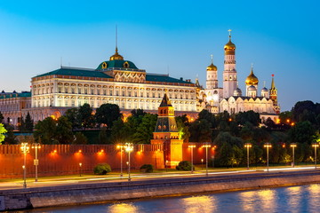 Moscow Kremlin at night, Russia