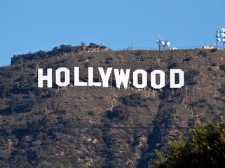 View of the famous Hollywood Sign, Mt Lee and Griffith Park on February 27, 2011 in Los Angeles, California, USA.