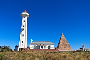 The Donkin Reserve lighthouse in Port Elizabeth, South Africa. This is a popular tourist attraction.