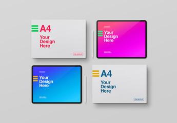 Paper and Digital Tablet Mockup