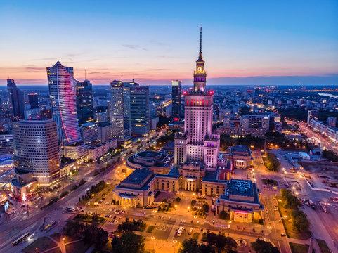 Warszawa o zmierzchu