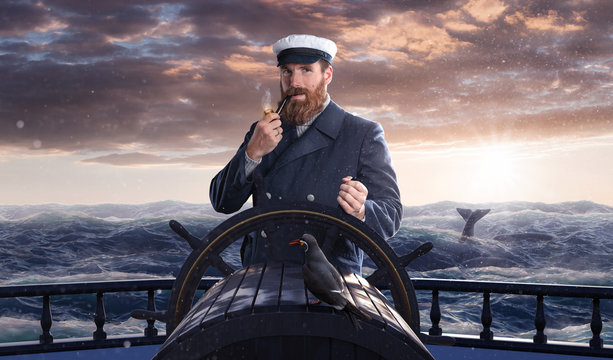 Seemann auf hohe See