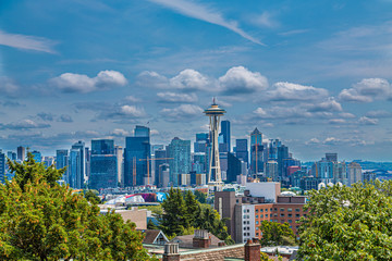 Fototapete - Seattle From Kerry Park on a Summer Day