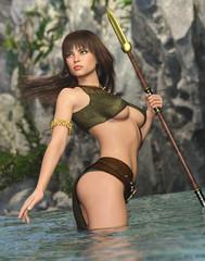 Stone Age Warrior Princess
