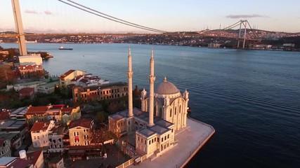 Fotomurales - Aerial view of Ortakoy Mosque