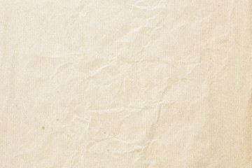 Keuken foto achterwand Retro Old pale brown crumpled paper background texture
