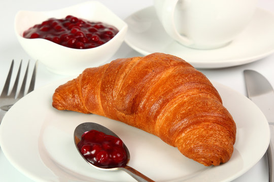 fresh croissant on a plate