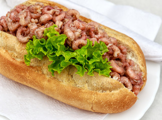 Bread roll with crabs – Schleswig-Holstein, Germany