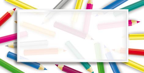 Colored Pencils Frame Header