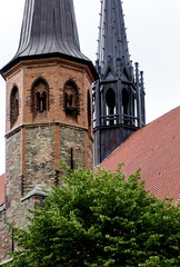 View of the Schleswig Cathedral from the northeast. The most important medieval monument of the city of Schleswig is the nearly 900-year-old St. Peter's Cathedral, Germany
