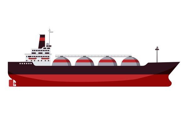 Gas tanker LNG carrier natural gas. Carrier ship