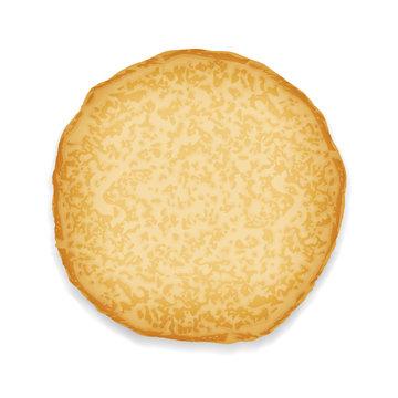 Pancake sweet food 3d realistic decoration vector illustration
