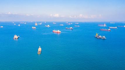Oil Tanker ship at  Malacca Strait singapore Fototapete