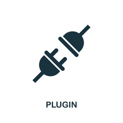 Plugin vector icon symbol. Creative sign from seo and development icons collection. Filled flat Plugin icon for computer and mobile