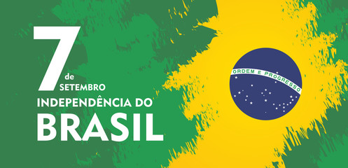 Brazil independence day celebration greeting card illustration Fototapete