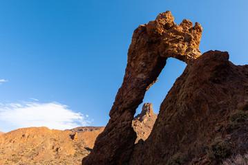 Zapato de la Reina (Shoe of the Queen), famous rock formation in Teide National Park, Tenerife Island, Spain