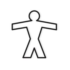 person silhouette icon- vector illustration