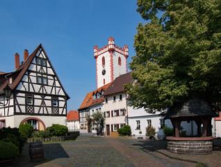 In der Altstadt von Steinheim am Main in Hanau, Hessen, Deutschland