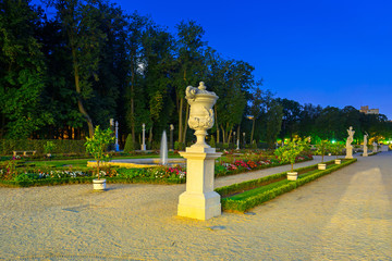 Beautiful gardens of the Branicki Palace in Bialystok, Poland.