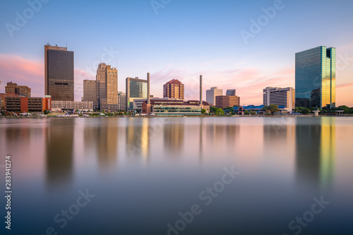 Fototapete Toledo, Ohio, USA Skyline on the River