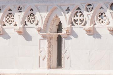 Cathedral of St. Andrea. Carrara detail. Tuscany. Italy.