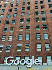 Detail of the Google building in New York. It is one of the largest technology owned office buildings in the world