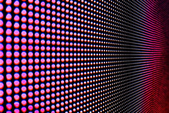 Abstract Close up Bright colored LED SMD video wall abstract background