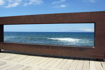 Scenic View of a Iron sculpture in Tenerife Spain