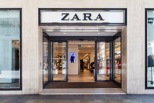 Zara shop in Turin, Italy. It is a company dedicated to the manufacturing of home textiles and was founded at 2003.