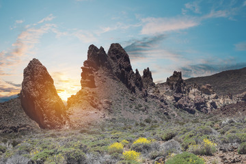 Anaga mountain in Tenerife, Spain, Europe