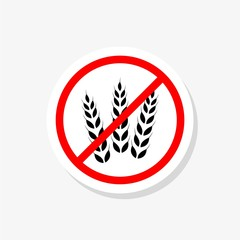 No gluten sign sticker, Gluten free symbols