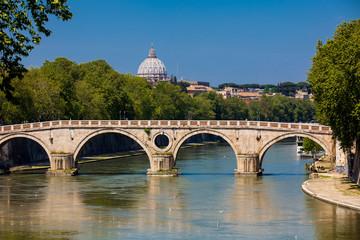 Ponte Sisto an historical bridge over the Tiber river built on 1479