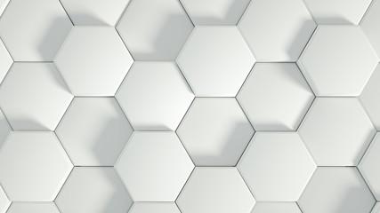 Geometry hexagon background. 3d illustration, 3d rendering. Wall mural
