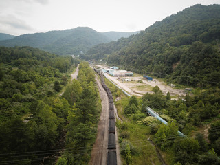 A train loaded with coal sits on the tracks inside the now-bankrupt mining company BlackJewel's former Black Mountain mining complex, while striking miners blockade the tracks a mile away in protest of unpaid wages, in Cumberland