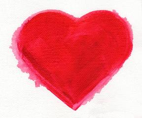 Aquarell Herz. - Liebe, Beziehung, Kunstmalerei, Acryl